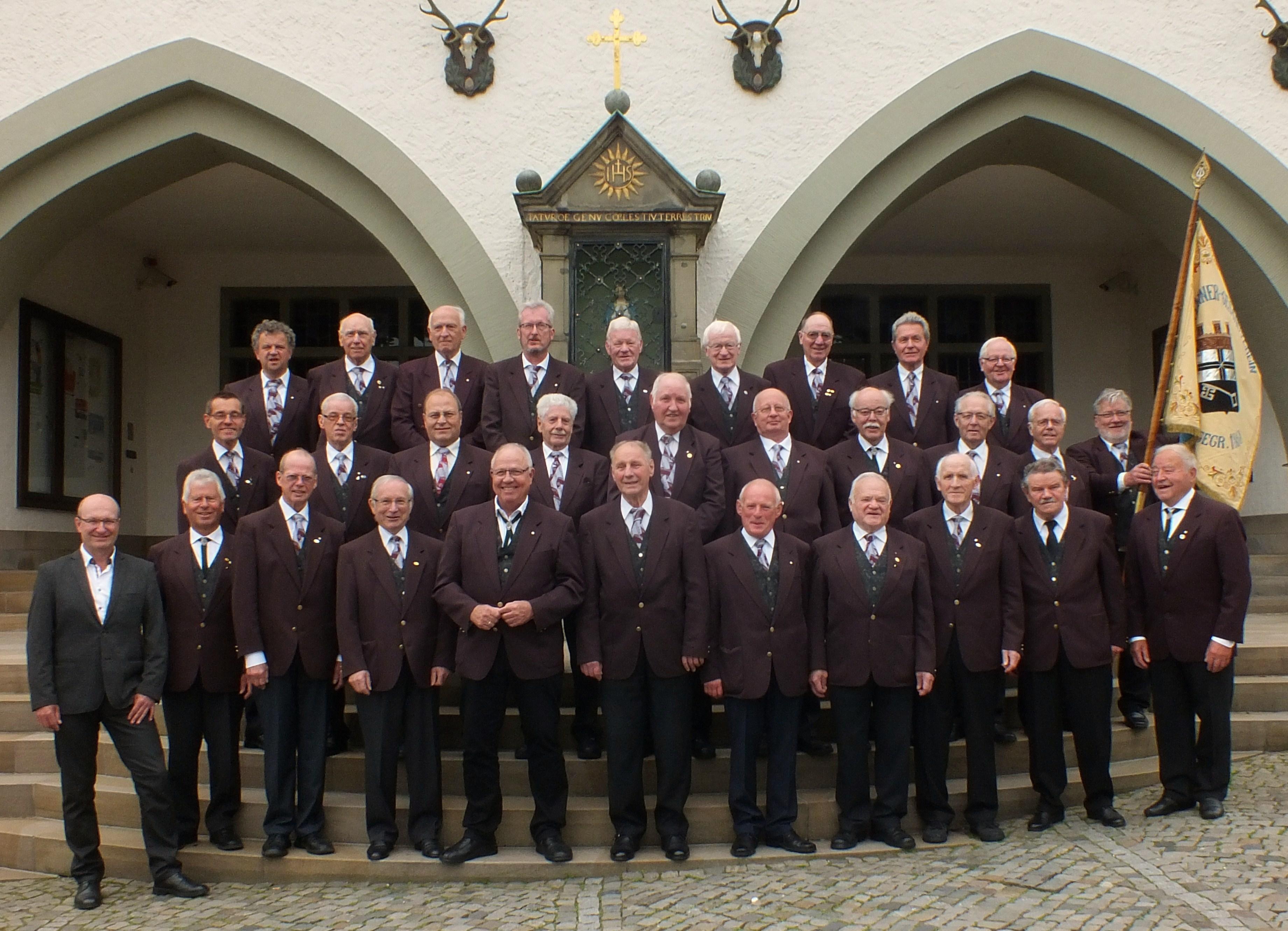 Der Männerchor im Jubiläumsjahr 2018